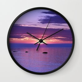 Colorful Cloudy Sunset  Wall Clock