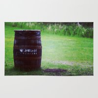 whiskey Area & Throw Rugs featuring Whiskey Keg by gdesai