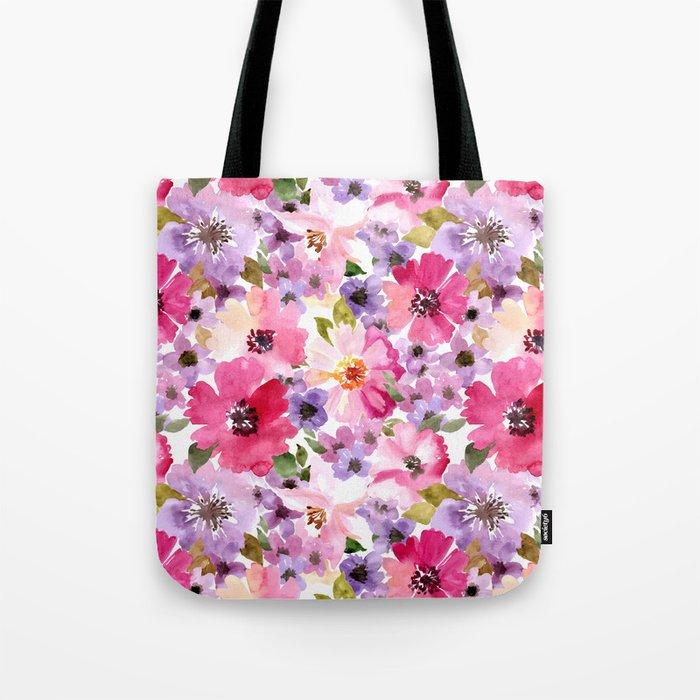 FLOWERS WATERCOLOR 6 Tote Bag