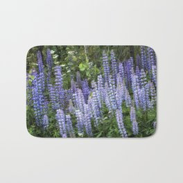 Lupins in Blue and Purple Bath Mat