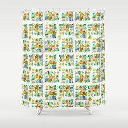 plant shelf Shower Curtain