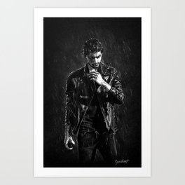 Wet Zayn Art Print