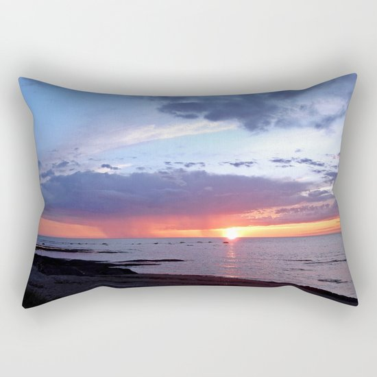 Sunset Rain Cloud Rectangular Pillow
