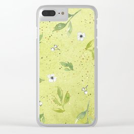 Sunny Green Clear iPhone Case