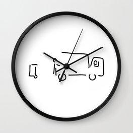 garbage disposal with garbage Wall Clock