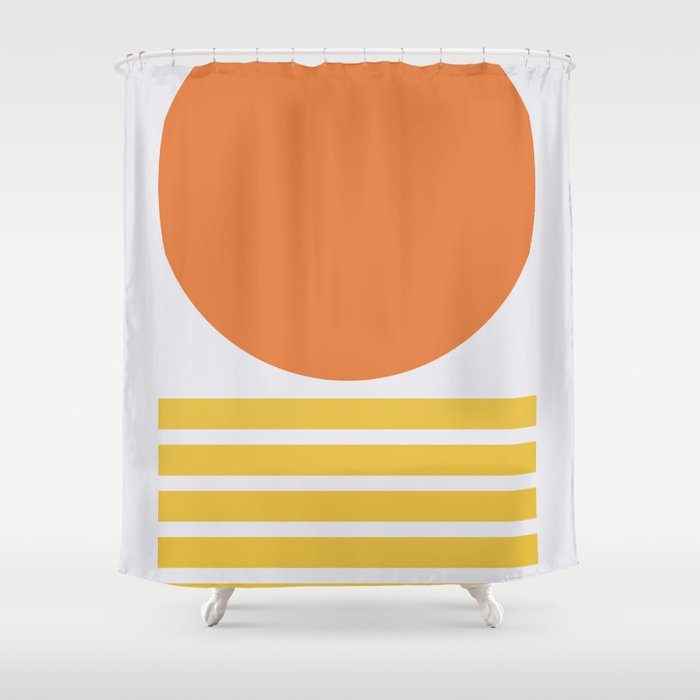 Geometric Form No.5 Shower Curtain