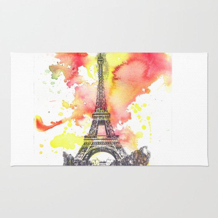 Eiffel Tower in Paris France Rug