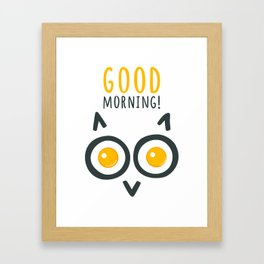 Morning owl Framed Art Print