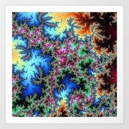 Peacock feathers on Acid - fractal art Art Print