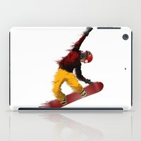 snowboarding iPad Cases featuring Snowboarding by Boehm Graphics