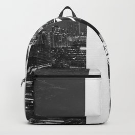 Tattoo and architecture of the city Backpack