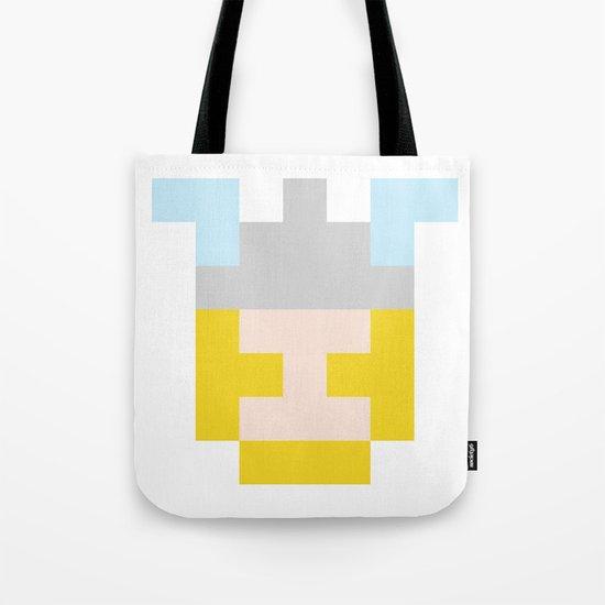 hero pixel flesh yellow grey Tote Bag
