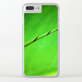 Canna Leaf Spiral Twist Clear iPhone Case