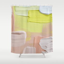 winter sun - peach and yellow Shower Curtain