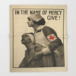 Vintage poster - Red Cross Throw Blanket