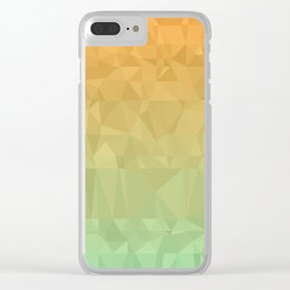 Blue and Orange Ombre - Flipped Clear iPhone Case