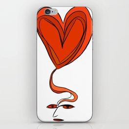 Amor en Mente iPhone Skin