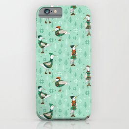 Seagulls in jumper iPhone Case