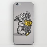 drunk iPhone & iPod Skins featuring Drunk Elephant by The Quarrelsome Yeti