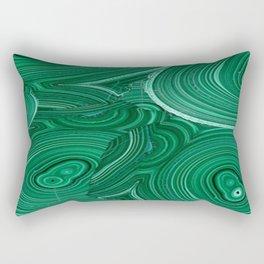 Green Malachite Nature Pattern Design Abstract Rectangular Pillow
