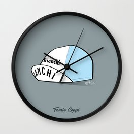 Grimpeur - Coppi cap Wall Clock