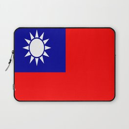 flag of taiwan- asia,china,Zhōnghuá Mínguó,Taiwanese,  mandarin,taipei,Kaohsiung,Taichung,Formosa Laptop Sleeve