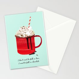 Fall in Chocolate Stationery Cards