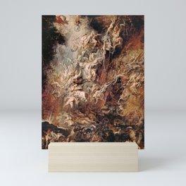 Fall of the Damned by Peter Paul Rubens, 1620 Mini Art Print