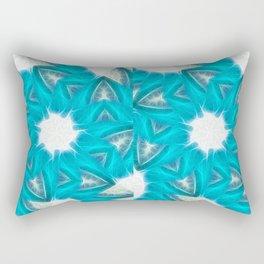 Cyan Glow Kaleidoscope 6 Rectangular Pillow