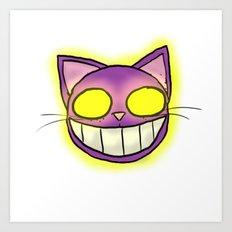 GhostKat head Art Print