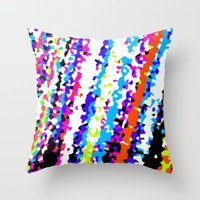 80s Throw Pillows featuring 80s by margalit romano