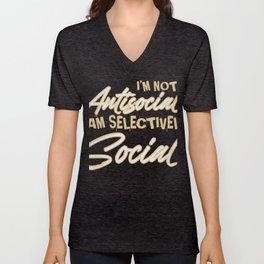 Im not Antisocial Unisex V-Neck