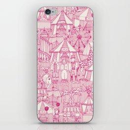 retro circus pink ivory iPhone Skin