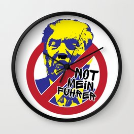 Not My President Wall Clock