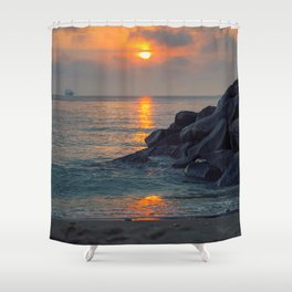 The Ft. Lauderdale Jetties Shower Curtain