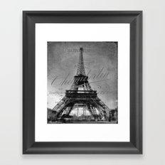 Vintage Eiffel Tower Framed Art Print