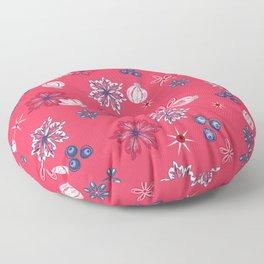 Berry Christmas pattern Floor Pillow