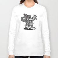 banjo Long Sleeve T-shirts featuring Vintage Banjo by Hoborobo