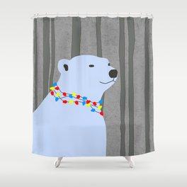 Polar Bear Holiday Design Shower Curtain