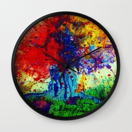 prism tree Wall Clock