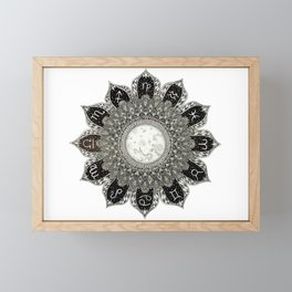 Astrology Signs Mandala Framed Mini Art Print