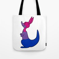bisexual Tote Bags featuring Bisexual Kangaroo by alashby