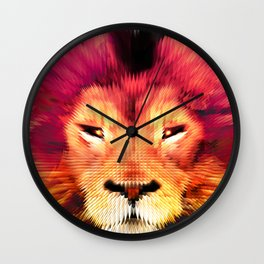 BIG CAT LION Wall Clock