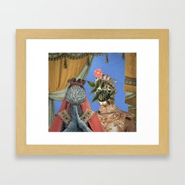 Queen Artichoke and King Flower Pot Framed Art Print