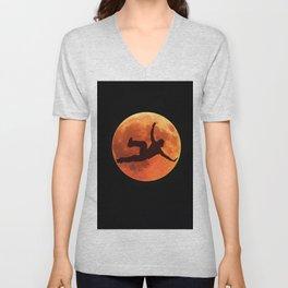 Breakdance on the moon Unisex V-Neck