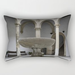 Spanish Patio with Moorish Fountain Rectangular Pillow