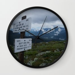 The Bootts Spur Trail Wall Clock
