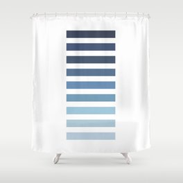Sky and Water Blue Palette Shower Curtain