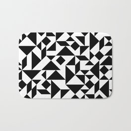 Tangram Composition in Black and White Bath Mat