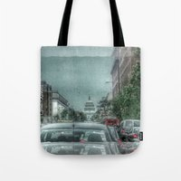 dc Tote Bags featuring DC Traffic by Geni